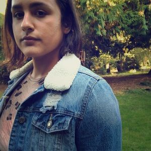 Mossimo Denim w/ Shearling Collar Jacket
